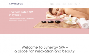 spa website template